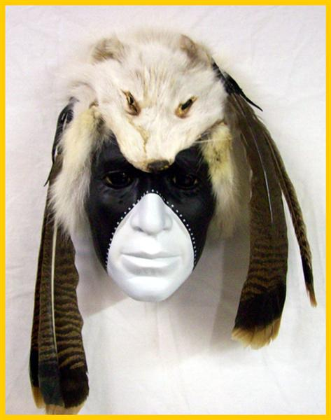 Masks by Cherokee Artist - Dan L Corley